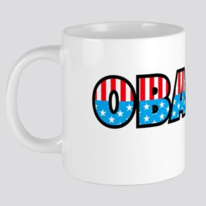OBAMA STARS AND STRIPES [Co 20 oz Ceramic Mega Mug